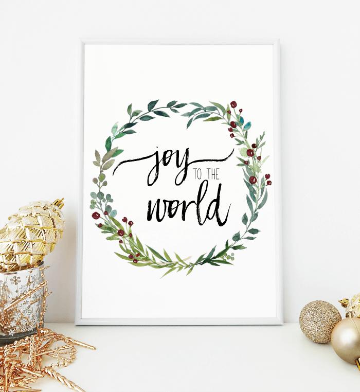 image regarding Wreath Printable named Contentment toward the International watercolor wreath cost-free printable Xmas