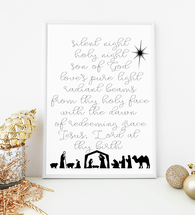 photograph about Silent Night Lyrics Printable named Quiet Evening lyrics absolutely free printable Xmas - Refresh Dwelling
