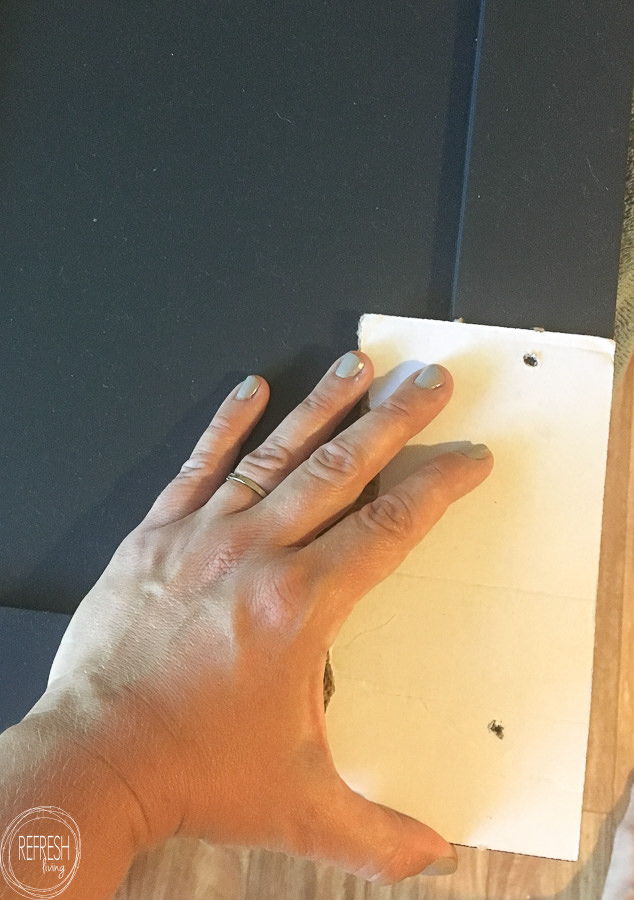 Easy way to install new hardware on cabinet doors without fancy tools or gadgets.