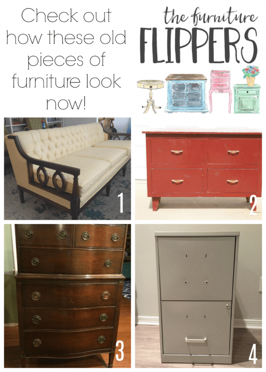 These old, discarded pieces of furniture have a whole new look now.