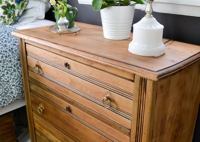 Would you believe someone was throwing this antique dresser away? I couldn't let that happen! Follow these steps to remove old finish and paint and restore the original, natural wood finish on furniture.