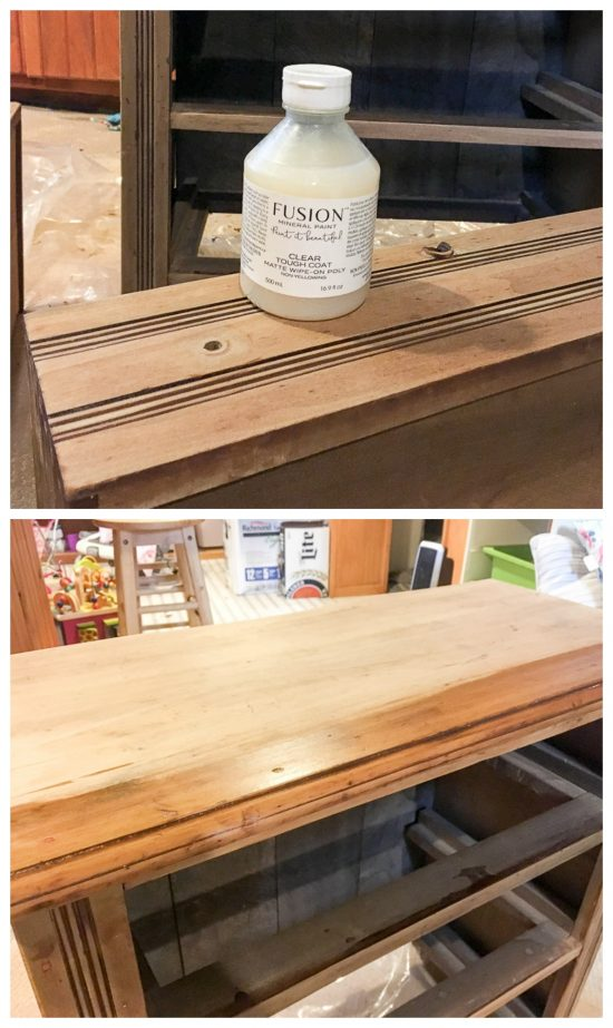How to finish a raw, natural wood finish without darkening the color.