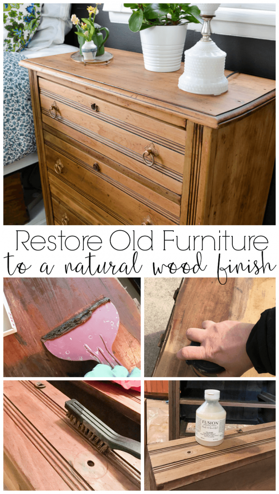 How To Bring A Piece Of Furniture Back To A Natural Wood Finish