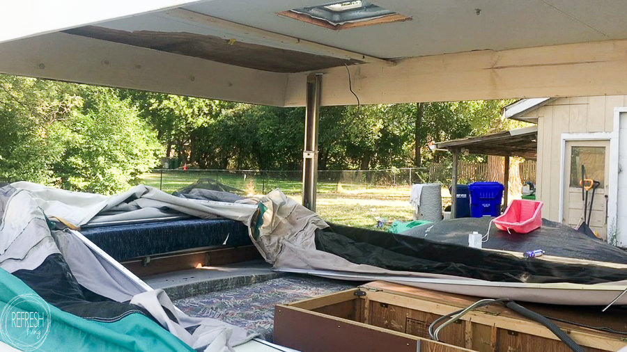 After finding a roof that was rotting away due to water damage in our pop up camper, we rebuilt it, made it watertight, and now it's as good as new!
