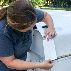 Eternabond tape is a great product for repairing holes and leaks in a pop up camper roof. Here's how to apply the tape to keep your roof watertight.