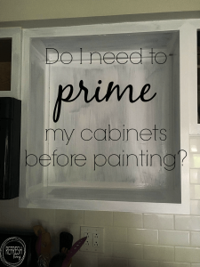 Trying to figure out whether you need to prime cabinets before painting? This post will answer all of your questions!