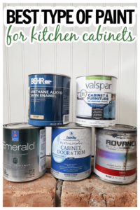 comparison of different brands of paint for painting kitchen cabinets