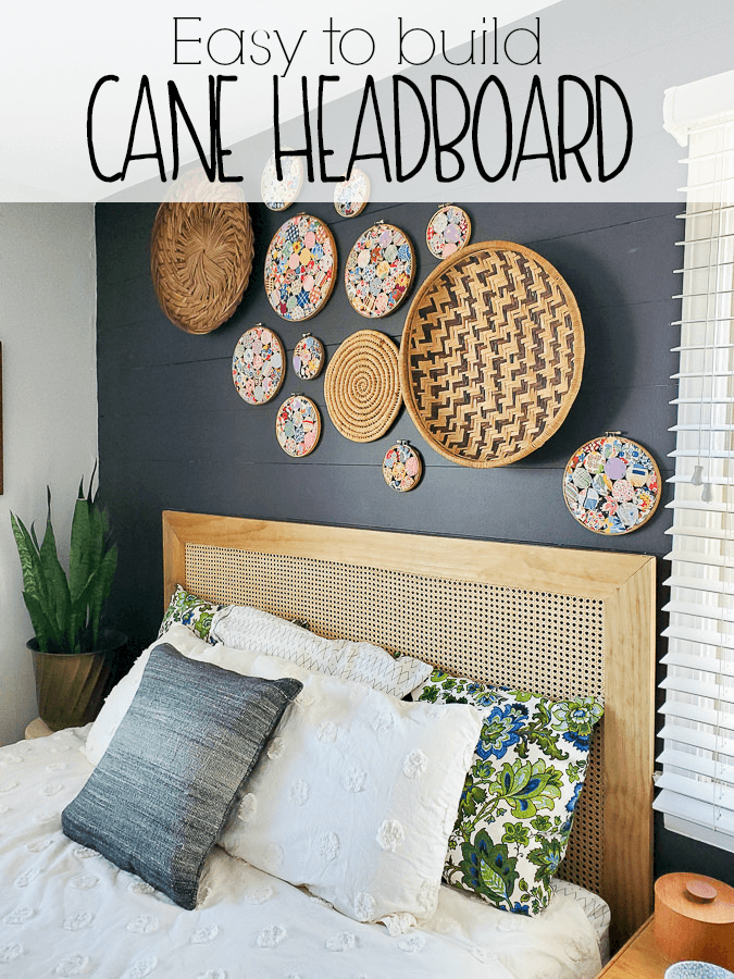 Step by step on how to make a headboard using wood and caning material for a vintage modern feel on a budget! DIY Caned Headboard via Refresh Living