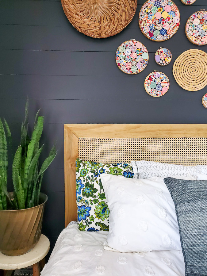 How to make a headboard with caning for a modern look on a small budget!