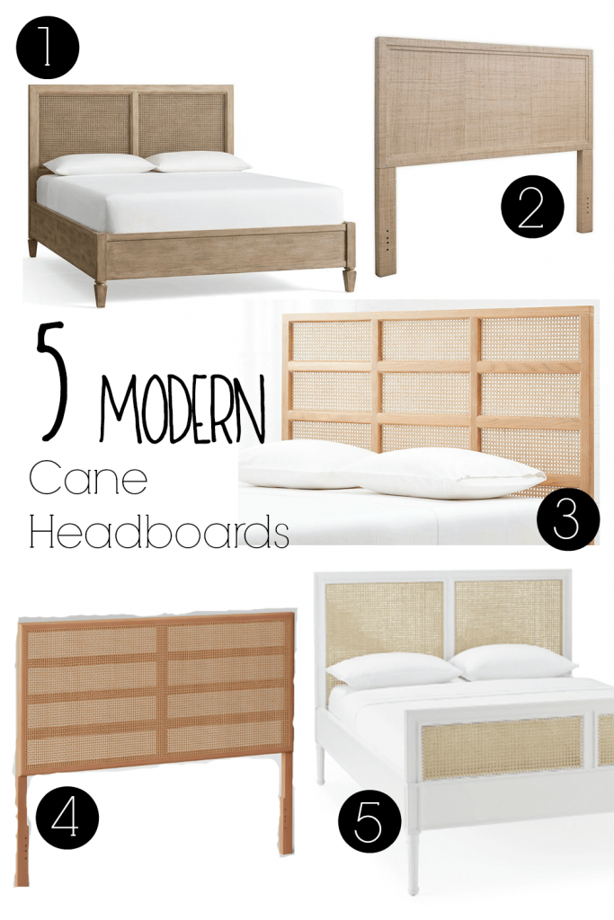 If you don't want to build your own cane headboard, here are five cane headboards that you can buy instead of DIY!