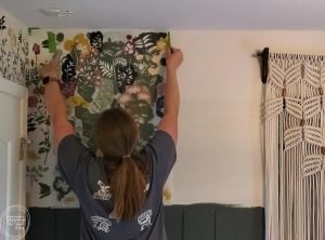 These are the best tricks for how to stencil a wall without the paint bleeding or seeping underneath. Using multiple paint colors gives the look of wallpaper for way less!