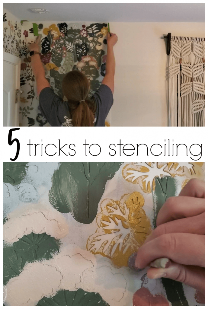 These are the best tricks for how to stencil a wall without the paint bleeding or seeping underneath.