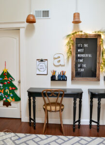 Christmas home tour with budget-friendly decor ideas and vintage touches.