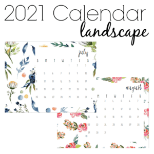Download and print this free printable calendar with watercolor floral patterns. Visit the page for horizontal or vertical options.