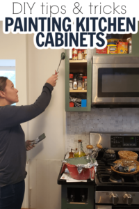 If you're thinking of painting your cabinets, these tricks are a must read. So many great tips on how to paint kitchen cabinets for a professional finish.