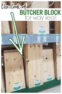 how to use wood boards to make counters for RV camper