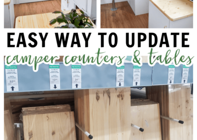 how to make wood counters for camper to look like butcher block
