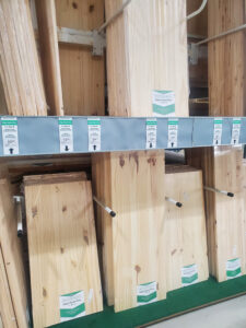 hardware store with edge glued board to use for RV counters
