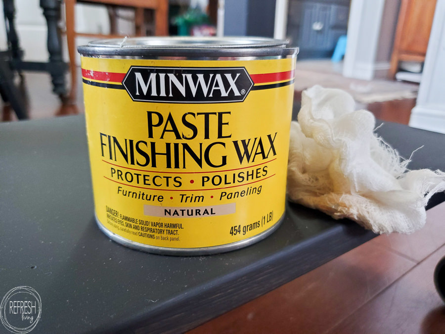 minwax paste finishing wax for furniture as a topcoat